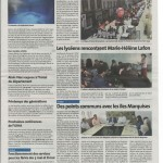 Article du journal La voix du Cantal