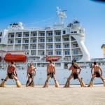 L'Aranui 5 arrive à Papeete